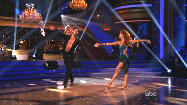 "<div class=""meta image-caption""><div class=""origin-logo origin-image ""><span></span></div><span class=""caption-text"">Katherine Jenkins, who competed on the show last season and finished in second place, returned to the ballroom as a musical guest on 'Dancing With The Stars: The Results Show' on Tuesday, Oct. 2, 2012. She sang with Placido Domingo. The two sang 'Come What May.' Their duet was accompanied by pro dancers Valentin Chmerkovskiy and Anna Trebunskaya. (ABC Photo)</span></div>"