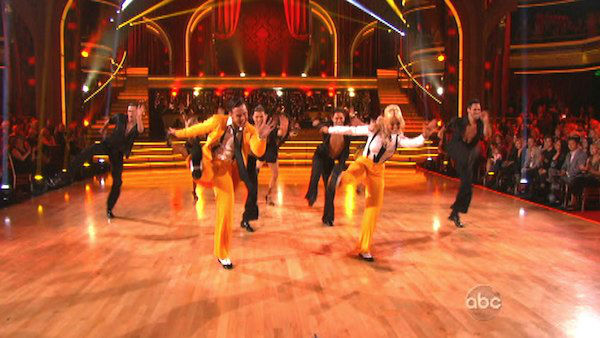 "<div class=""meta image-caption""><div class=""origin-logo origin-image ""><span></span></div><span class=""caption-text"">The Troupe teased week 3's theme of 'Iconic Dance Night' with a medley of iconic routines from seasons past on 'Dancing With The Stars: The Results Show' on Tuesday, Oct. 2, 2012. The dance also featured Anya Garnis, Jaymz Tuaileva, Lacey and Benji Schwimmer. (ABC Photo)</span></div>"
