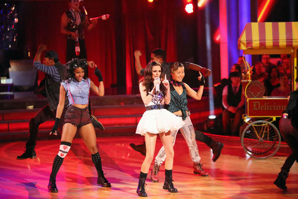 Cher Lloyd performed on 'Dancing With The Stars: The Results Show' on Tuesday, Oct. 2, 2012. She sang her hit single, 'Want You Back.'