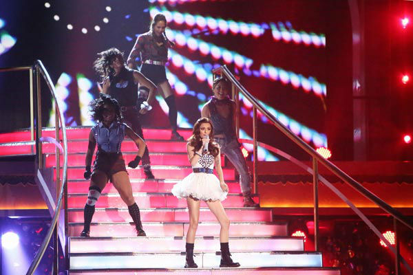 Cher Lloyd performed on &#39;Dancing With The Stars: The Results Show&#39; on Tuesday, Oct. 2, 2012. She sang her hit single, &#39;Want You Back.&#39; <span class=meta>(ABC Photo&#47; Adam Taylor)</span>