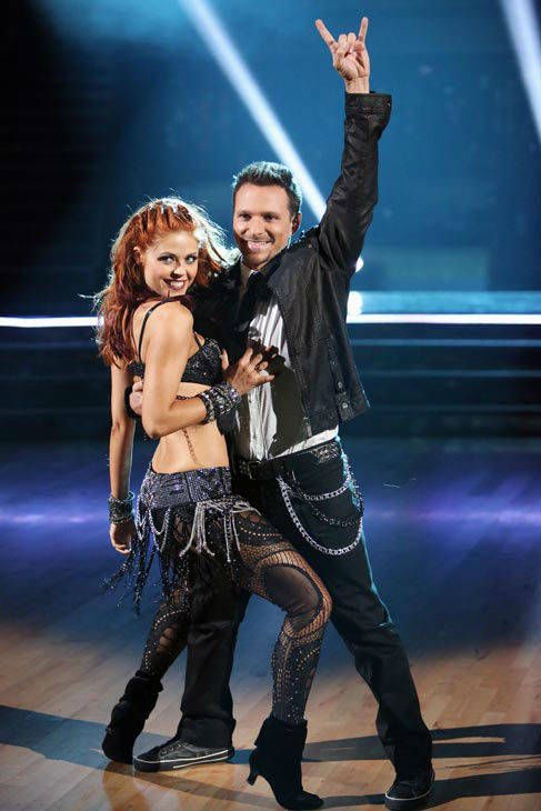 Drew Lachey and his partner Anna Trebunskaya perform on 'Dancing With The Stars: The Results Show' on Tuesday, Oct. 2, 2012.