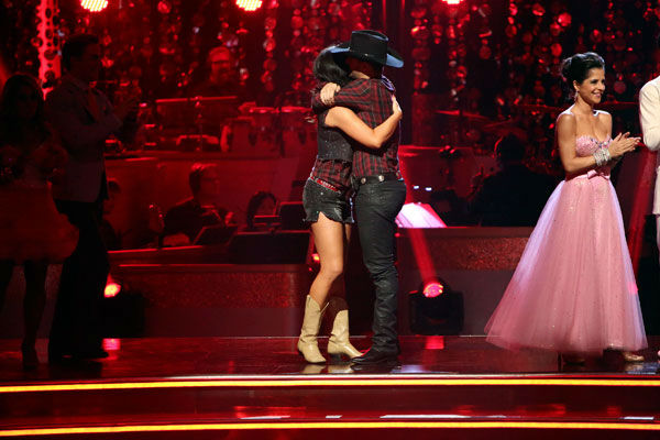 Reality star Bristol Palin and her partner Mark Ballas react to being safe from elimination. The pair received 18 out of 30 points from the judges for their Quickstep on week two of &#39;Dancing With The Stars: All-Stars,&#39; which aired on Oct. 1, 2012. <span class=meta>(ABC Photo&#47; Adam Taylor)</span>