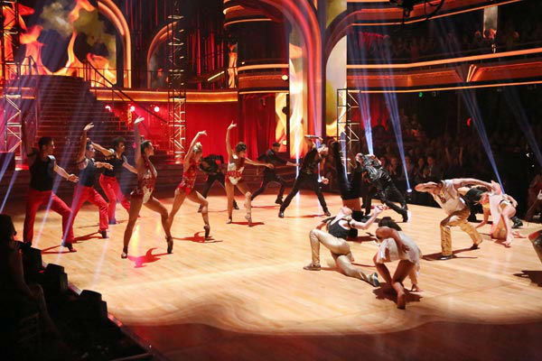 &#39;Dancing With The Stars: The Results Show&#39; on Tuesday, Oct. 2, 2012, included the season&#39;s first &#39;Macy&#39;s Stars of Dance&#39; performance, which was choreographed by Shannon Mather. The dance focused on Blake McGrath, Ian Eastwood and Tyne Stecklein who all led their groups in the performance. <span class=meta>(ABC Photo&#47; Adam Taylor)</span>