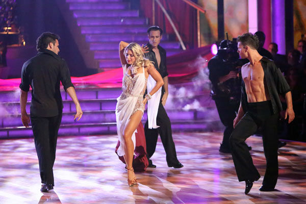 The Troupe teased week 3's theme of 'Iconic Dance Night' with a medley of iconic routines from seasons past on 'Dancing With The Stars: The Results Show' on Tuesday, Oct. 2, 2012.