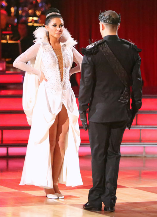 "<div class=""meta image-caption""><div class=""origin-logo origin-image ""><span></span></div><span class=""caption-text"">Reality TV star Bristol Palin and her partner Mark Ballas received 22.5 out of 30 points from the judges for their Paso Doble on 'Dancing With The Stars: All-Stars' on Monday, Oct. 8, 2012. (ABC / Adam Taylor)</span></div>"