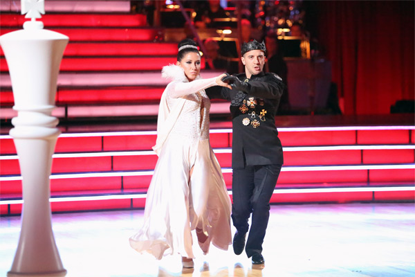 Reality TV star Bristol Palin and her partner Mark Ballas received 22.5 out of 30 points from the judges for their Paso Doble on &#39;Dancing With The Stars: All-Stars&#39; on Monday, Oct. 8, 2012. <span class=meta>(ABC &#47; Adam Taylor)</span>
