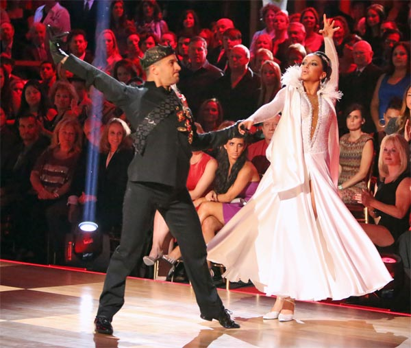 Reality TV star Bristol Palin and her partner Mark Ballas received 22.5 out of 30 points from the judges for their Paso Doble on 'Dancing With The Stars: All-Stars' on Monday, Oct. 8, 2012.