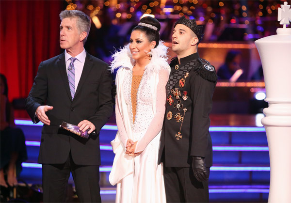 "<div class=""meta ""><span class=""caption-text "">Reality TV star Bristol Palin and her partner Mark Ballas received 22.5 out of 30 points from the judges for their Paso Doble on 'Dancing With The Stars: All-Stars' on Monday, Oct. 8, 2012. (ABC / Adam Taylor)</span></div>"