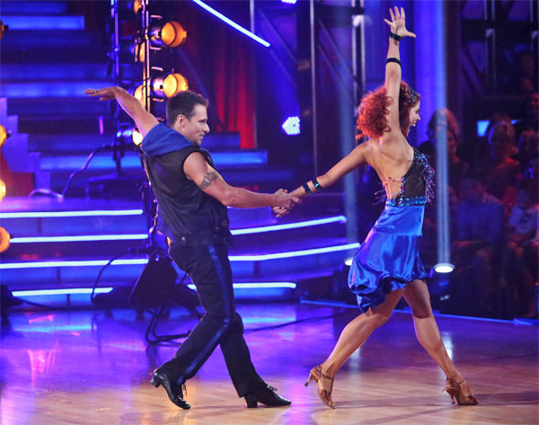 Former member of the boy band 98 Degrees, Drew Lachey, and his partner Anna Trebunskaya received 24 out of 30 points from the judges for their Cha Cha Cha on &#39;Dancing With The Stars: All-Stars&#39; on Monday, Oct. 8, 2012. <span class=meta>(ABC &#47; Adam Taylor)</span>