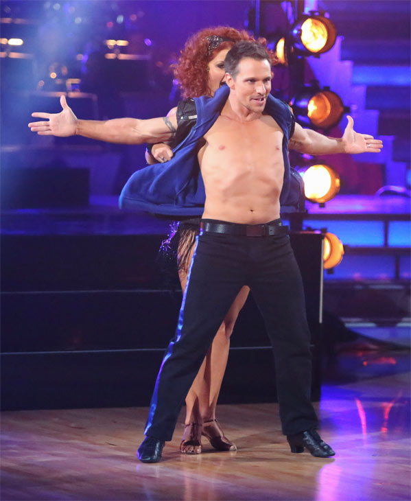 "<div class=""meta image-caption""><div class=""origin-logo origin-image ""><span></span></div><span class=""caption-text"">Former member of the boy band 98 Degrees, Drew Lachey, and his partner Anna Trebunskaya received 24 out of 30 points from the judges for their Cha Cha Cha on 'Dancing With The Stars: All-Stars' on Monday, Oct. 8, 2012. (ABC / Adam Taylor)</span></div>"