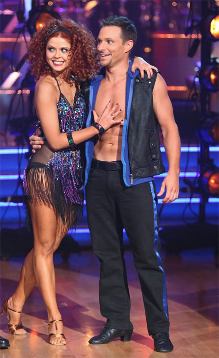 "<div class=""meta ""><span class=""caption-text "">Former member of the boy band 98 Degrees, Drew Lachey, and his partner Anna Trebunskaya received 24 out of 30 points from the judges for their Cha Cha Cha on 'Dancing With The Stars: All-Stars' on Monday, Oct. 8, 2012. (ABC / Adam Taylor)</span></div>"