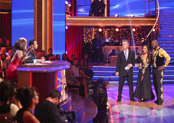 Retired NFL star Emmitt Smith and his partner Cheryl Burke received 25 out of 30 points from the judges for their Paso Doble on 'Dancing With The Stars: All-Stars' on Monday, Oct. 8, 2012.