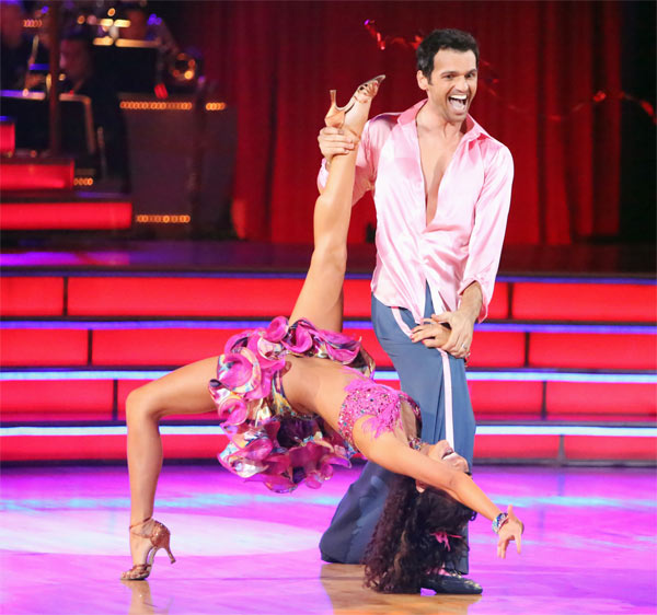Reality star Melissa Rycroft and her partner Tony Dovolani received 27 out of 30 points from the judges for their Samba on &#39;Dancing With The Stars: All-Stars&#39; on Monday, Oct. 8, 2012. <span class=meta>(ABC &#47; Adam Taylor)</span>