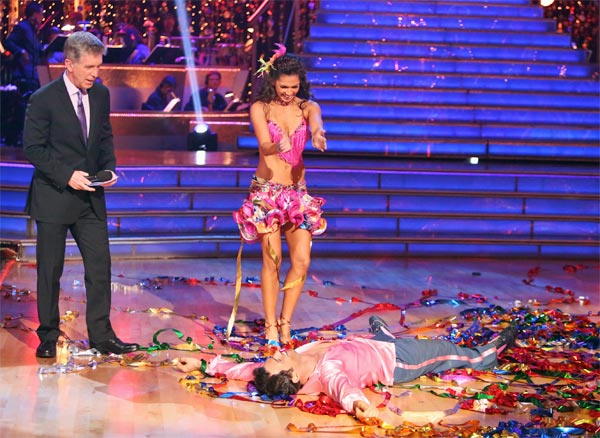 Reality star Melissa Rycroft and her partner Tony Dovolani received 27 out of 30 points from the judges for their Samba on 'Dancing With The Stars: All-Stars' on Monday, Oct. 8, 2012.