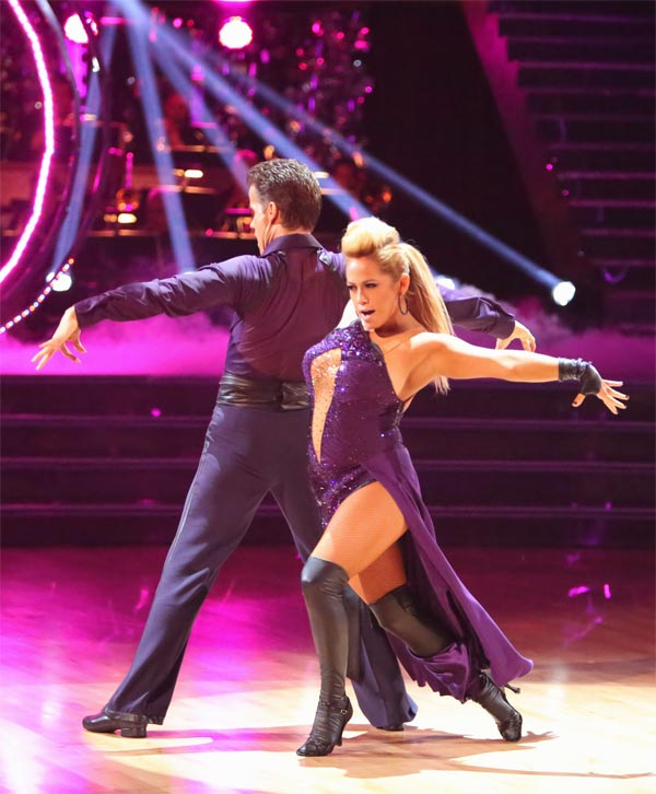 Disney Channel actress Sabrina Bryan and her partner Louis Van Amstel received 25.5 out of 30 points from the judges for their Paso Doble on &#39;Dancing With The Stars: All-Stars&#39; on Monday, Oct. 8, 2012. <span class=meta>(ABC &#47; Adam Taylor)</span>