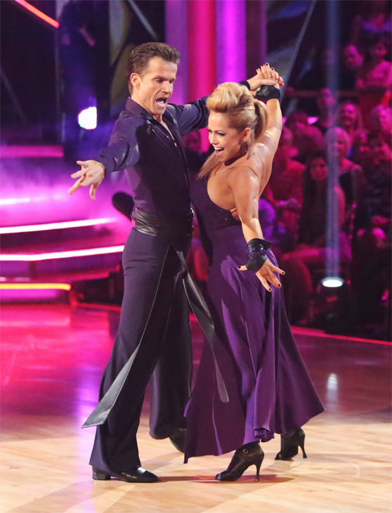 Disney Channel actress Sabrina Bryan and her partner Louis Van Amstel received 25.5 out of 30 points from the judges for their Paso Doble on 'Dancing With The Stars: All-Stars' on Monday, Oct. 8, 2012.