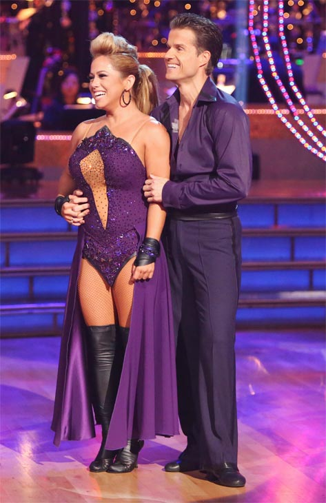 "<div class=""meta ""><span class=""caption-text "">Disney Channel actress Sabrina Bryan and her partner Louis Van Amstel received 25.5 out of 30 points from the judges for their Paso Doble on 'Dancing With The Stars: All-Stars' on Monday, Oct. 8, 2012. (ABC / Adam Taylor)</span></div>"