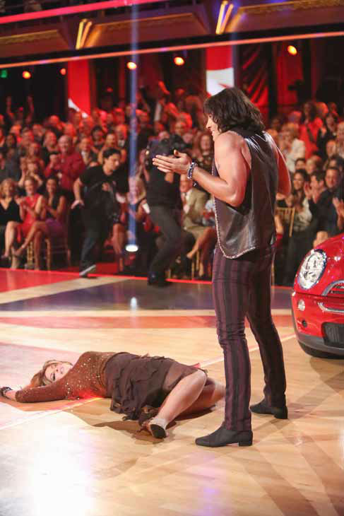 Kirstie Alley and Maksim Chmerkovskiy appear in a still from 'Dancing With The Stars: All-Stars' on October 8, 2012.