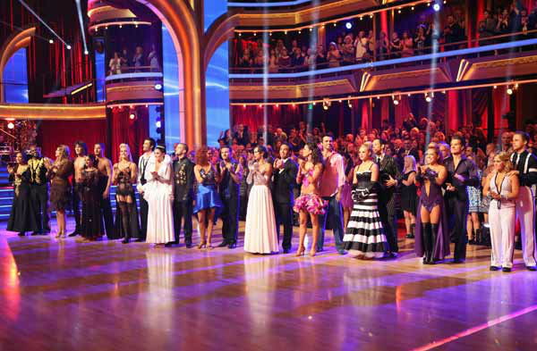 The cast appears in a still from 'Dancing With The Stars: All-Stars' 'Iconic Dance Night' episode, which aired on October 8, 2012.