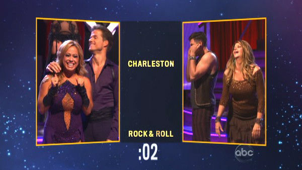 Later on Sabrina and Louis chose the &#39;Charleston&#39; dance style for Kirstie and Maksim on &#39;Dancing With The Stars: The Results Show&#39; on Tuesday, Oct. 9, 2012. <span class=meta>(ABC Photo)</span>
