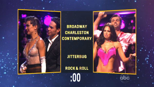 Later on Apolo and Karina chose a &#39;Jitterbug&#39; dance style for Melissa and Tony on &#39;Dancing With The Stars: The Results Show&#39; on Tuesday, Oct. 9, 2012. <span class=meta>(ABC Photo)</span>