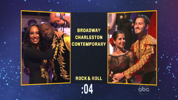 Later on Emmit and Cheryl chose a &#39;Contemporary&#39; dance style for Kelly and Valentin on &#39;Dancing With The Stars: The Results Show&#39; on Tuesday, Oct. 9, 2012. <span class=meta>(ABC Photo)</span>