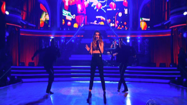 Karmin stopped by the ballroom on &#39;Dancing With The Stars: The Results Show&#39; on Tuesday, Oct. 9, 2012, to perform their singles &#39;Hello&#39; and &#39;Brokenhearted.&#39; <span class=meta>(ABC Photo)</span>