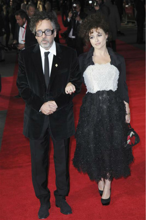 Helena Bonham Carter and parter Tim Burton appear at the premiere of the director&#39;s film &#39;Frankenweenie&#39; at the 56th BFI London Film Festival in London on Oct. 12, 2012. <span class=meta>(Aurore Marechal &#47; ABACA &#47; Startraksphoto.com)</span>