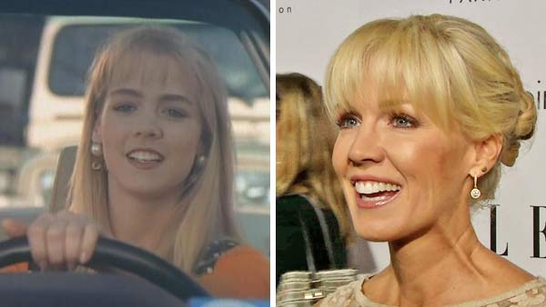 Left -- Jennie Garth appears in a still from 'Beverly Hills, 90210.' Right -- Jennie Garth appears at the Elle Women in Hollywood event in Los Angeles, California on Oct. 15, 2012.