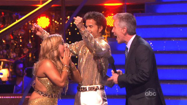 "<div class=""meta ""><span class=""caption-text "">Disney Channel actress Sabrina Bryan and her partner Louis Van Amstel react to being safe from elimination on 'Dancing With The Stars: The Results Show' on October 16, 2012. The pair received 35.5 out of 40 points from the judges for their Disco on 'Dancing With The Stars: All-Stars,' which aired on October 15, 2012. (ABC Photo)</span></div>"