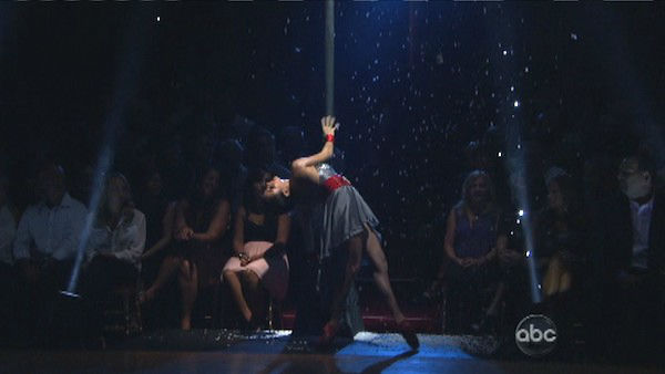 Tuesday night episode included a &#39;Macy&#39;s Stars of Dance Performance&#39; choreographed by Christopher Scott on &#39;Dancing With The Stars: The Results Show&#39; on October 16, 2012. The dance featured the Legion of Extraordinary Dancers &#40;LXD&#41; and 18-year-old internet sensation Christina Grimmie at the piano singing &#39;Titanium.&#39; Jessica Keller was the lead ballerina for the dance.  <span class=meta>(ABC Photo)</span>