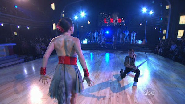 Tuesday night episode included a 'Macy's Stars of Dance Performance' choreographed by Christopher Scott on 'Dancing With The Stars: The Results Show' on October 16, 2012.