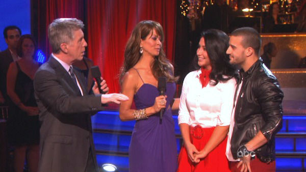 "<div class=""meta ""><span class=""caption-text "">Reality star Bristol Palin and her partner Mark Ballas react to being eliminated on 'Dancing With The Stars: The Results Show' on October 16, 2012. The pair received 32 out of 40 points from the judges for their Rock and Roll on 'Dancing With The Stars: All-Stars,' which aired on October 15, 2012.  (ABC Photo)</span></div>"
