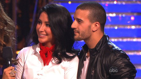 Reality star Bristol Palin and her partner Mark Ballas react to being eliminated on &#39;Dancing With The Stars: The Results Show&#39; on October 16, 2012. The pair received 32 out of 40 points from the judges for their Rock and Roll on &#39;Dancing With The Stars: All-Stars,&#39; which aired on October 15, 2012.  <span class=meta>(ABC Photo)</span>