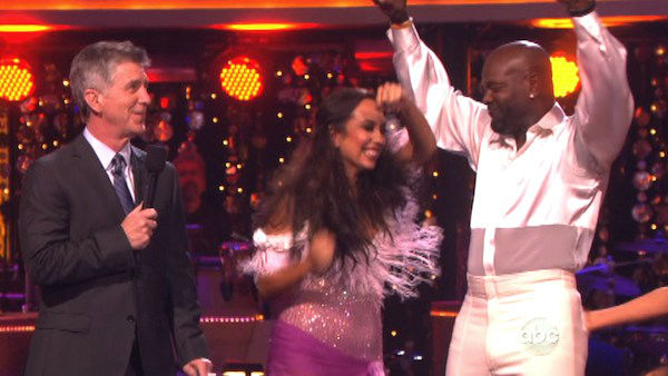 "<div class=""meta image-caption""><div class=""origin-logo origin-image ""><span></span></div><span class=""caption-text"">Retired NFL star Emmitt Smith and his partner Cheryl Burke await their fate on 'Dancing With The Stars: The Results Show' on October 16, 2012. The pair received 36 out of 40 points from the judges for their Bolero on 'Dancing With The Stars: All-Stars,' which aired on October 15, 2012.  (ABC Photo)</span></div>"
