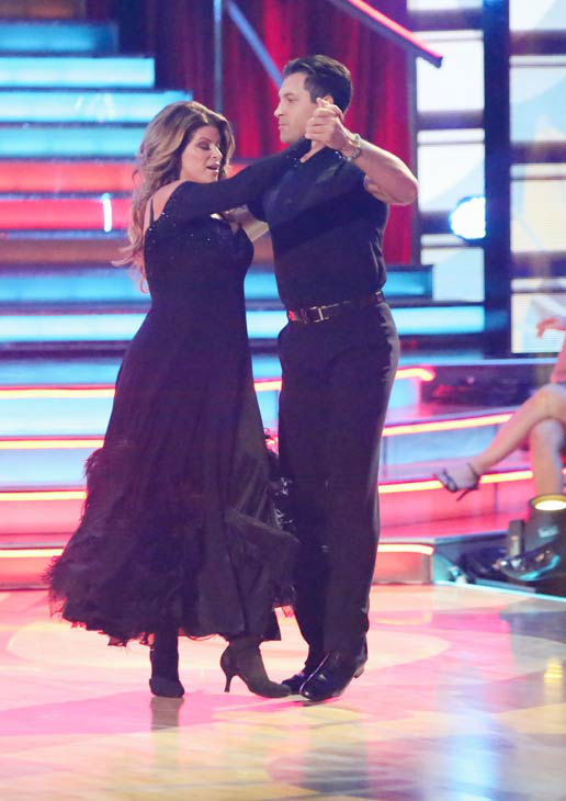 "<div class=""meta image-caption""><div class=""origin-logo origin-image ""><span></span></div><span class=""caption-text"">Actress Kirstie Alley and her partner Maksim Chmerkovskiy received 25.5 out of 30 points from the judges for their Quickstep on 'Dancing With The Stars: All-Stars,' which aired on October 22, 2012. (ABC Photo/ Adam Taylor)</span></div>"