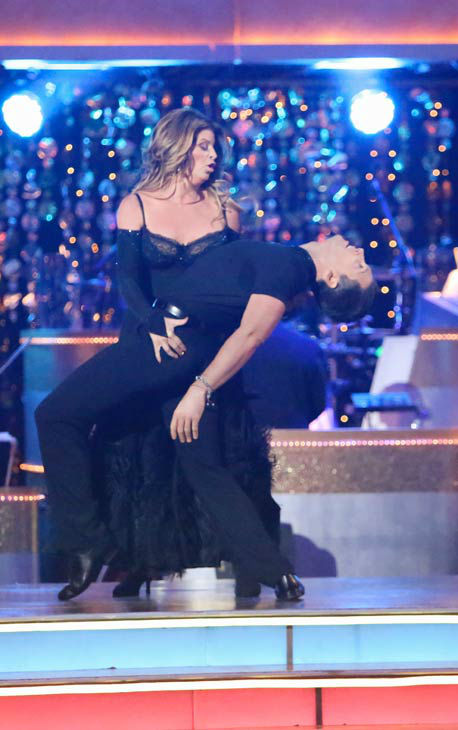Kirstie Alley and Maksim Chmerkovskiy appear in a still from 'Dancing With The Stars: All-Stars' on October 22, 2012.