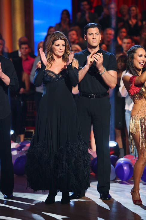 Kirstie Alley and Maksim Chmerkovskiy appear in...