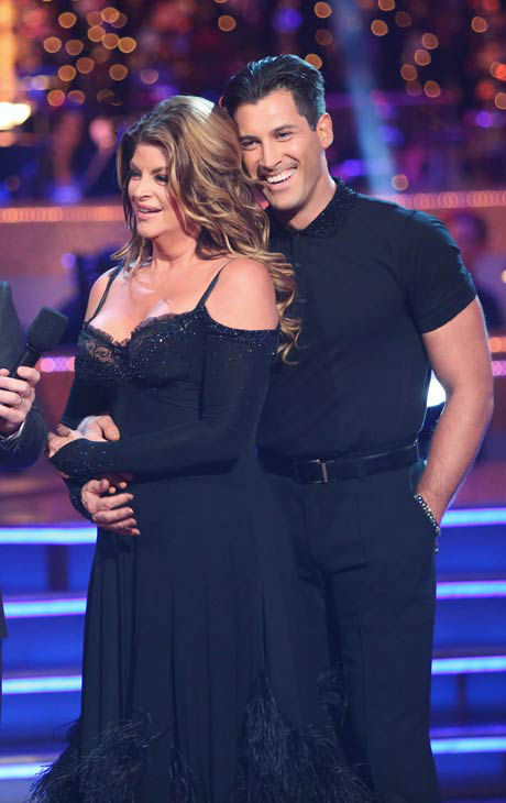 "<div class=""meta ""><span class=""caption-text "">Actress Kirstie Alley and her partner Maksim Chmerkovskiy received 25.5 out of 30 points from the judges for their Quickstep on 'Dancing With The Stars: All-Stars,' which aired on October 22, 2012. (ABC Photo/ Adam Taylor)</span></div>"