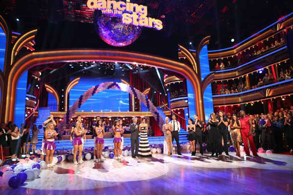 The cast of &#39;Danacing With The Stars: All-Stars&#39; appears at the start of &#39;Guilty Pleasures Week&#39; on October 22, 2012. &#40;Pictured: Shawn Johnson, Derek Hough, Sabrina Bryan, Louis Van Amstel, Melissa Rycroft, Tony Dovolani, Karina Smirnoff, Apolo Anton Ohno, Tom Bergeron, Brooke Burke Charvet, Peta Murgatroyd, Gilles Marini, Kelly Monaco, Valentin Chmerkovskiy, Kirstie Alley, Maksim Chmerkovskiy, Cheryl Burke and Emmitt Smith.&#41; <span class=meta>(ABC Photo&#47; Adam Taylor)</span>