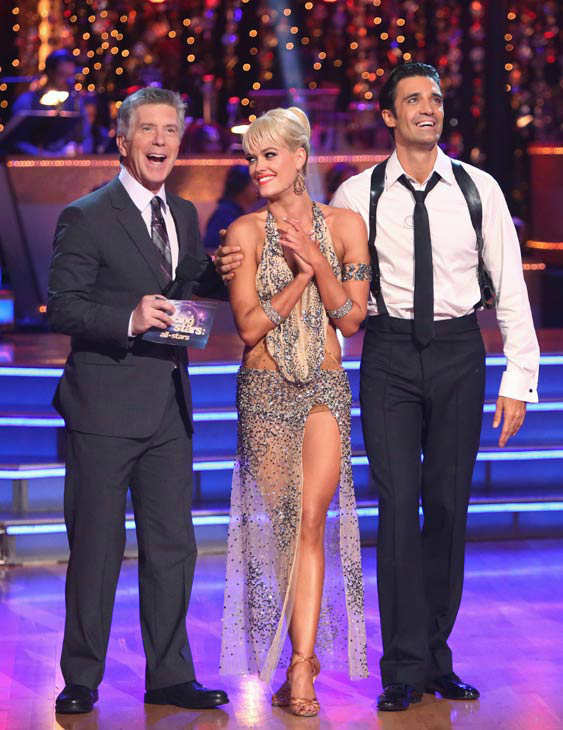 "<div class=""meta image-caption""><div class=""origin-logo origin-image ""><span></span></div><span class=""caption-text"">French actor Gilles Marini and his partner Peta Murgatroyd received 29.5 out of 30 points from the judges for their Rumba on 'Dancing With The Stars: All-Stars,' which aired on October 22, 2012. (ABC Photo/ Adam Taylor)</span></div>"
