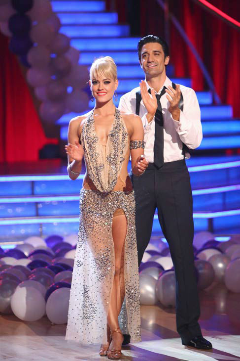Gilles Marini and Peta Murgatroyd appear in a still from 'Dancing With The Stars: All-Stars' on October 22, 2012.