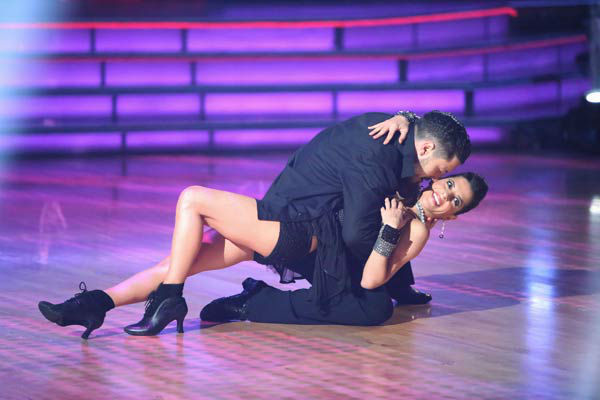 "<div class=""meta ""><span class=""caption-text "">'General Hospital' actress Kelly Monaco and her partner Valentin Chmerkovskiy received 24.5 out of 30 points from the judges for their Samba on 'Dancing With The Stars: All-Stars,' which aired on October 22, 2012. (ABC Photo/ Adam Taylor)</span></div>"