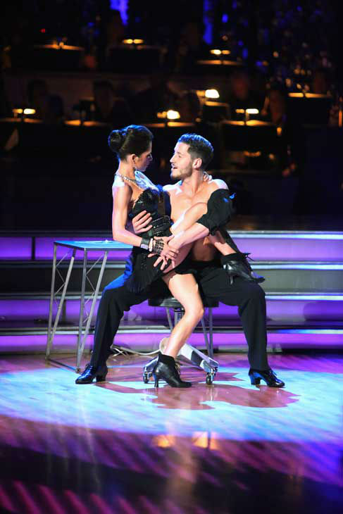 &#39;General Hospital&#39; actress Kelly Monaco and her partner Valentin Chmerkovskiy received 24.5 out of 30 points from the judges for their Samba on &#39;Dancing With The Stars: All-Stars,&#39; which aired on October 22, 2012. <span class=meta>(ABC Photo&#47; Adam Taylor)</span>