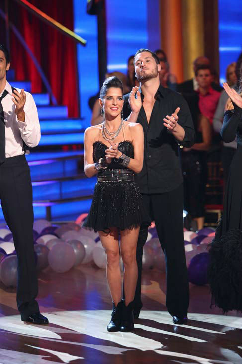 Kelly Monaco and Valentin Chmerkovskiy appear in...