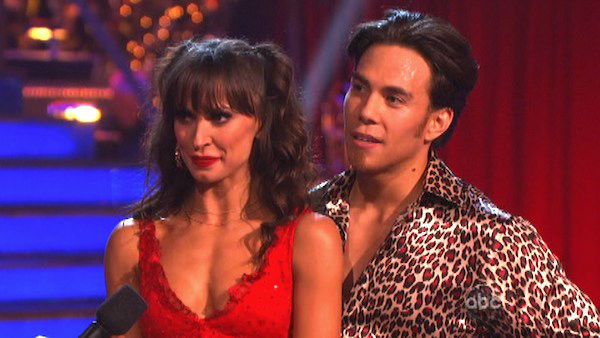 "<div class=""meta image-caption""><div class=""origin-logo origin-image ""><span></span></div><span class=""caption-text"">Olympic speed skater Apolo Anton Ohno and his partner Karina Smirnoff received 27 out of 30 points from the judges for their Samba on 'Dancing With The Stars: All-Stars,' which aired on October 23, 2012. (ABC Photo)</span></div>"