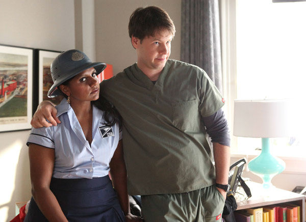 "<div class=""meta image-caption""><div class=""origin-logo origin-image ""><span></span></div><span class=""caption-text"">Mindy Kaling and Ike Barinholtz appear in a still from 'The Mindy Project' airing Tuesday, Oct. 30 at 9:30-10 p.m. ET/PT on FOX.  (Beth Dubber / FOX)</span></div>"