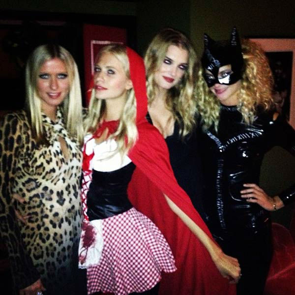 Nicky Hilton and friends appear in a photo posted on her official Twitter page on October 26, 2012.
