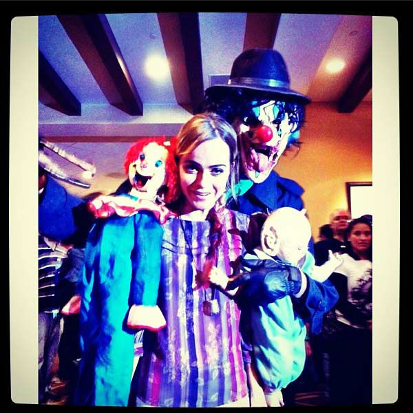 Taryn Manning appears in a photo posted on her official Twitter page on October 26, 2012.