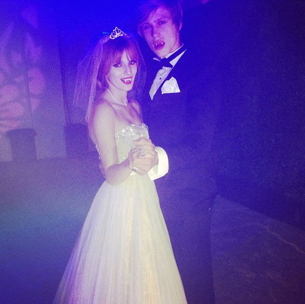Bella Thorne and her boyfriend Tristan Klier appear in a photo  posted on her official Twitter page on October 28, 2012.